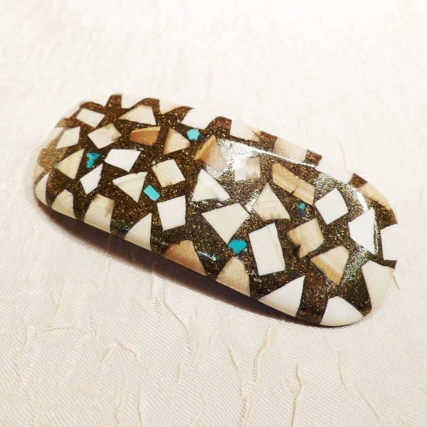 Haarspange Mammut-Mosaik