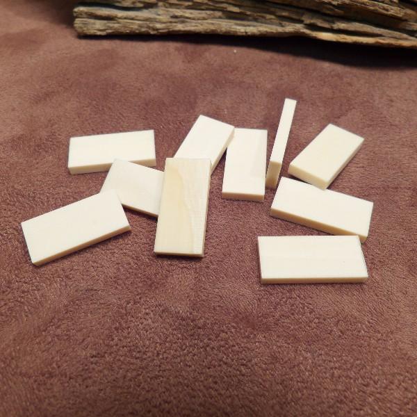 Zuschnitte Mammut-Elfenbein ca.24/26 x 11/12 x 3/3,5