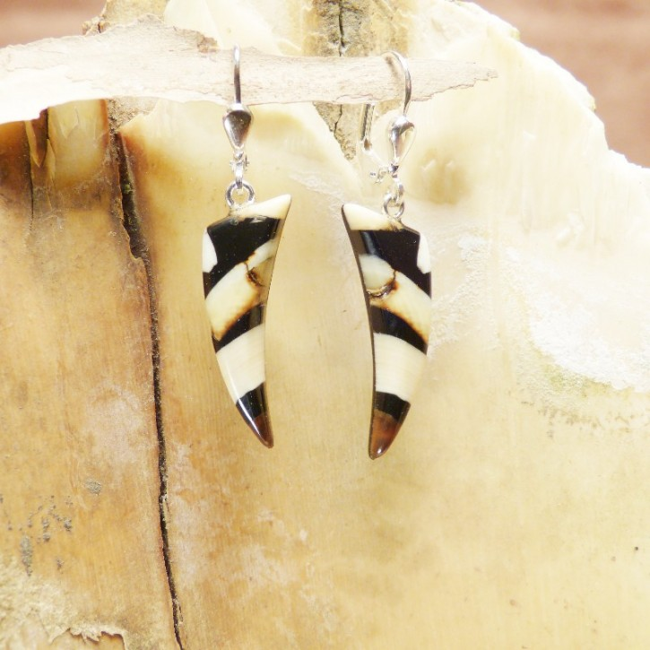 kleine Ohrhänger zahnförmig