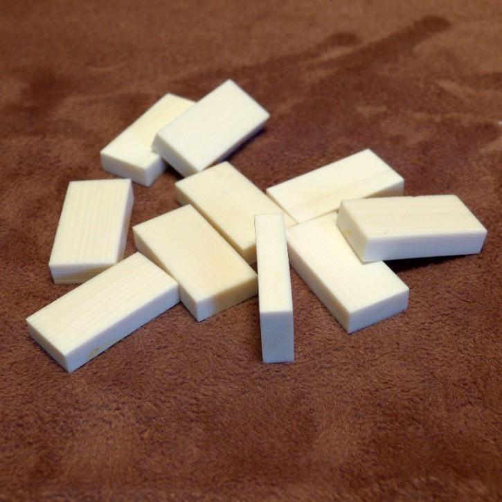 10 Stück Kasein Zuschnitte 24x11,8x4,7mm