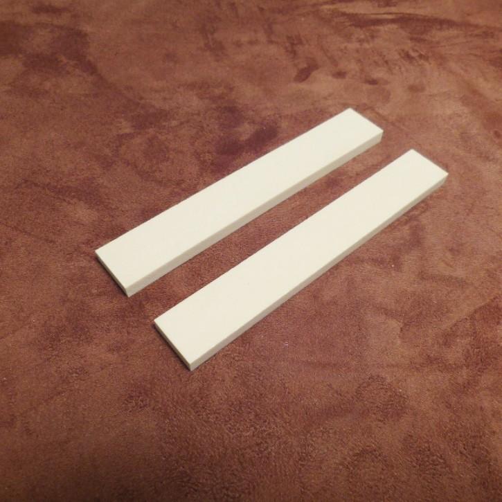 2 Stück Kasein-Platten ca. 140 x 20 x 6 mm