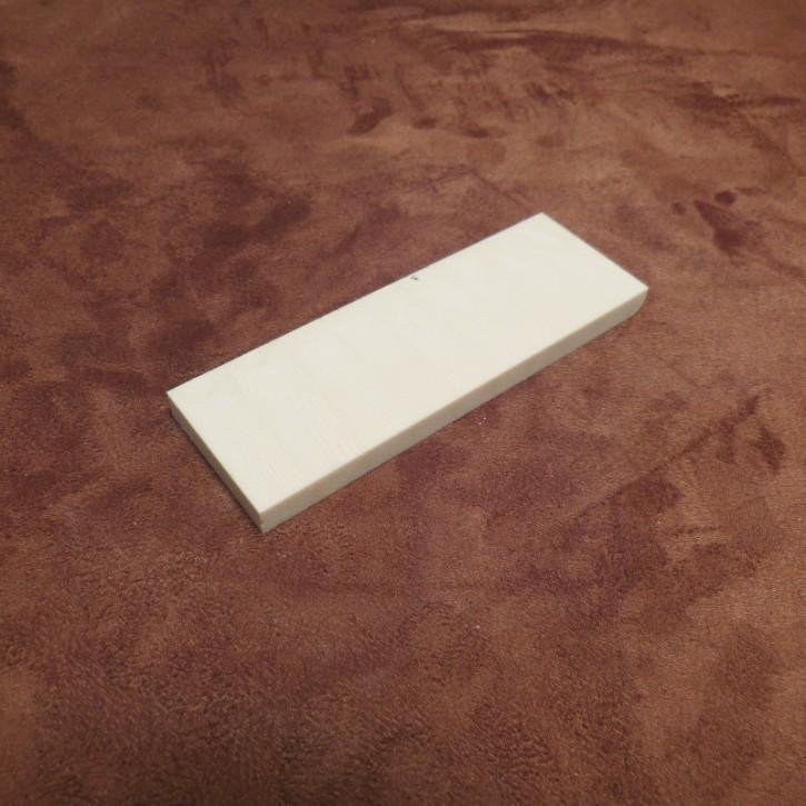 Kasein-Platte ca. 39 x 115 x 8 mm quer geschnitten