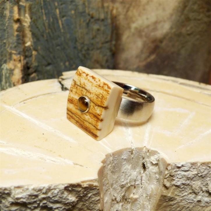 Toller Mammut-Ring mit Tigerauge