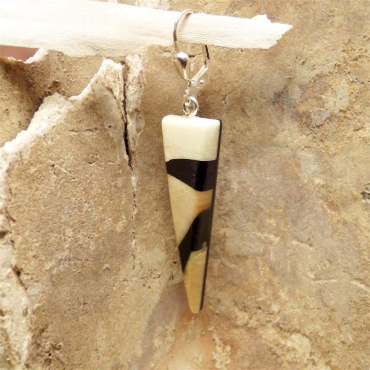 einzelner Mammut-Ohrrhänger schön gemasert