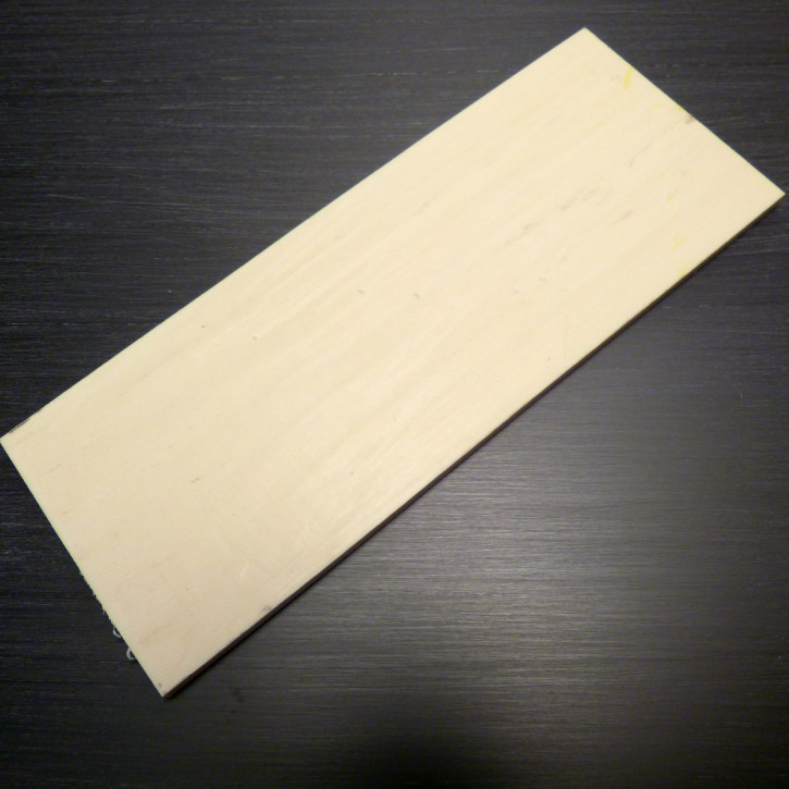 Kasein-Platte ca. 180 x 70 x 5,5mm