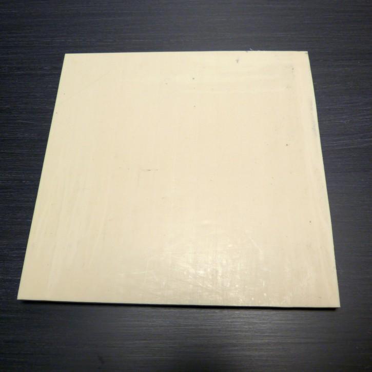 Kasein-Platte ca. 140 x 140 x 6,2-6,5mm