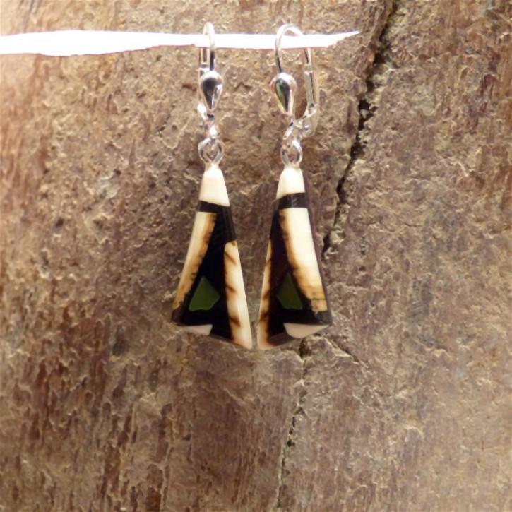 Mammut-Ohrringe mit Jade