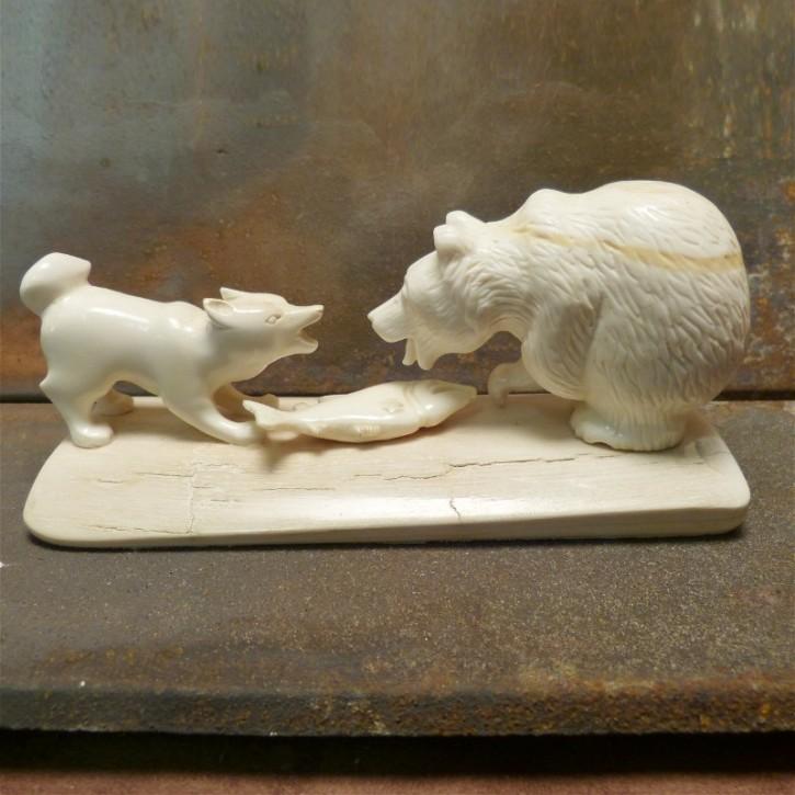 Bär mit Husky aus Mammut