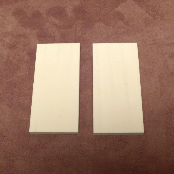 1 Paar Kasein-Zuschnitte ca. 76 x 36 x 6 mm