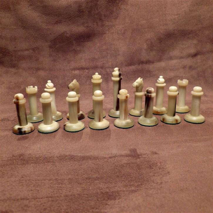 Schachfiguren Horn/Horn