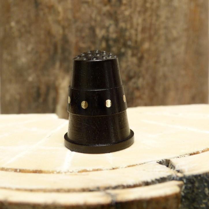 Fingerhut Ebenholz/Messing poliert