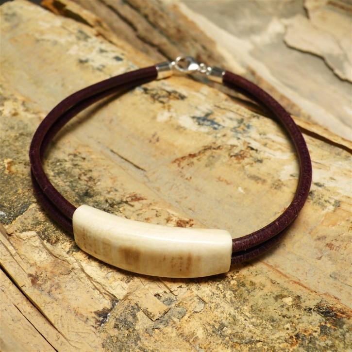 Mammut-Armband mit Doppelleder