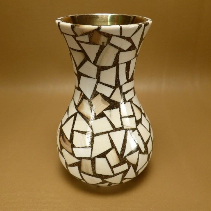 Vase mit Mammut-Mosaik
