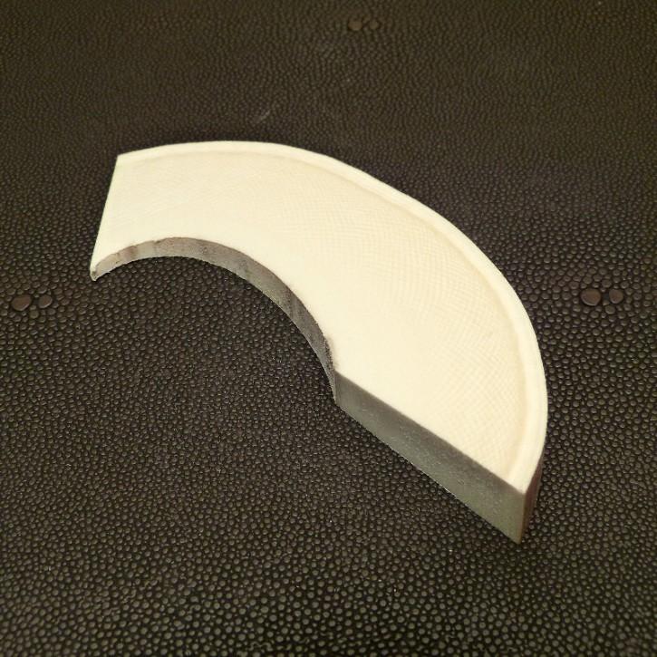 Keilstück quer geschnitten, bis 18 mm dick