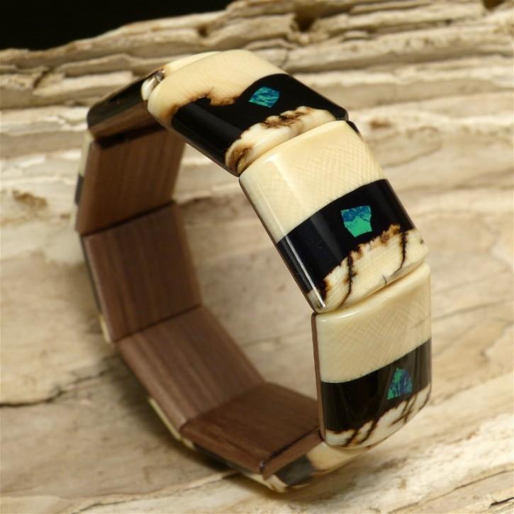 Mammut-Armband mit Azurit