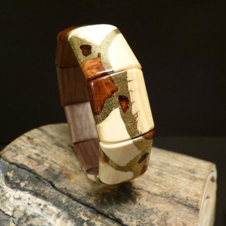 Mammut-Armband mit Bernstein