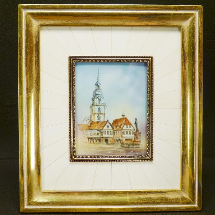 Erbacher Stadtkirche m. Rathaus in lim.Auflage