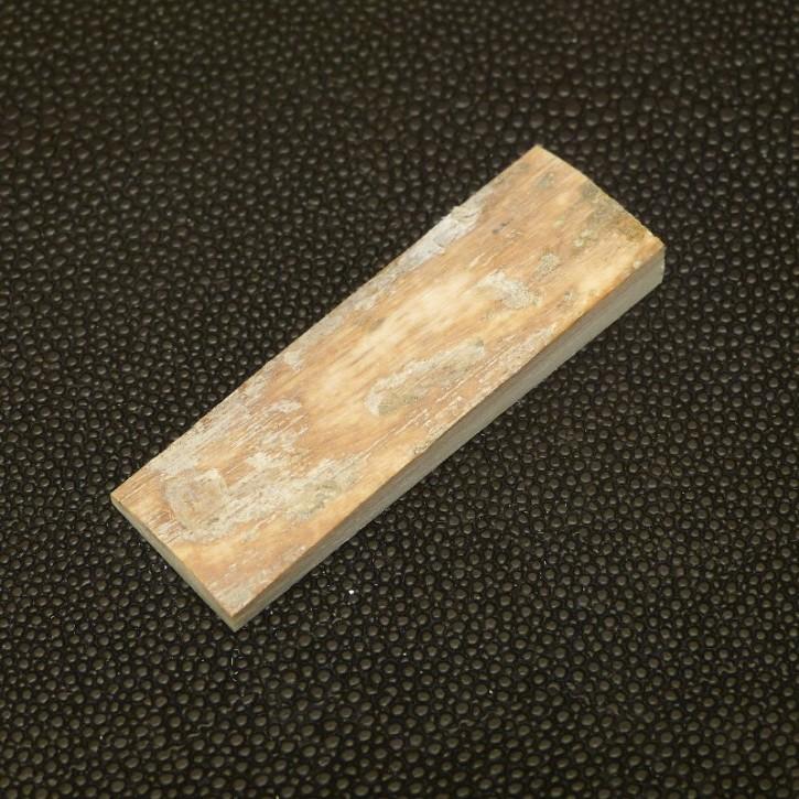 Mammut-Platte mit Rinde ca. 51 x 17 x 3 bis 6,5 mm