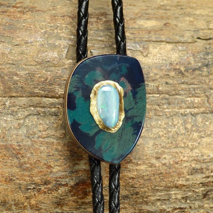 Bola aus Horn mit Opal