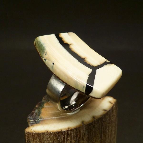 Mammut-Ring mit Edelstahl