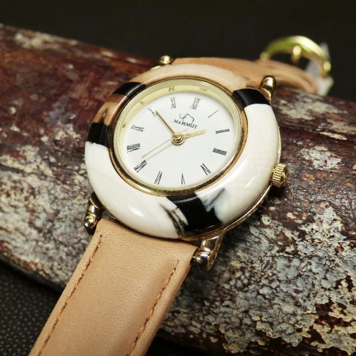 Armbanduhr aus mehrfarbigem Mammut-Elfenbein