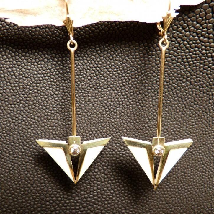 Ohrhänger 585/- Gold mit Diamanten