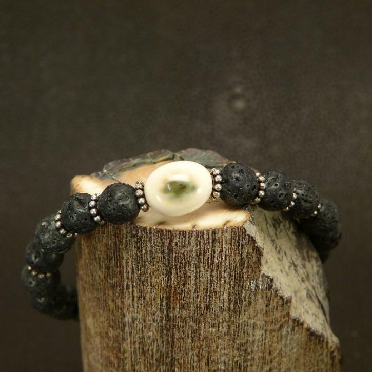 Armband Lava/Mammut/Silber