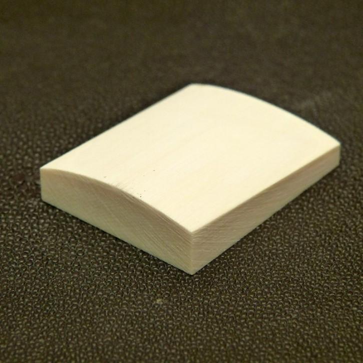 Platte mit gewölbter Oberfläche ca. 45x37x10mm
