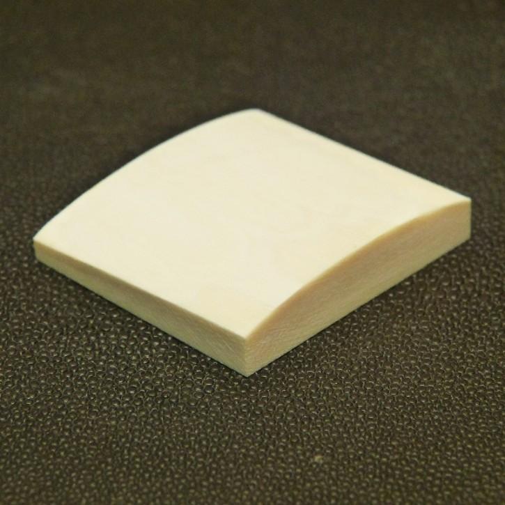 Platte mit gewölbter Oberfläche ca. 42x45x8mm