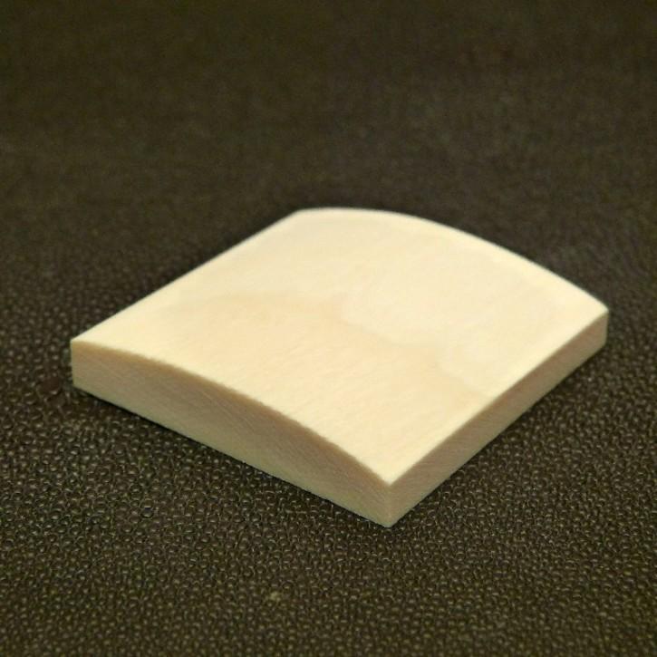 Platte mit gewölbter Oberfläche ca. 43x46x9mm