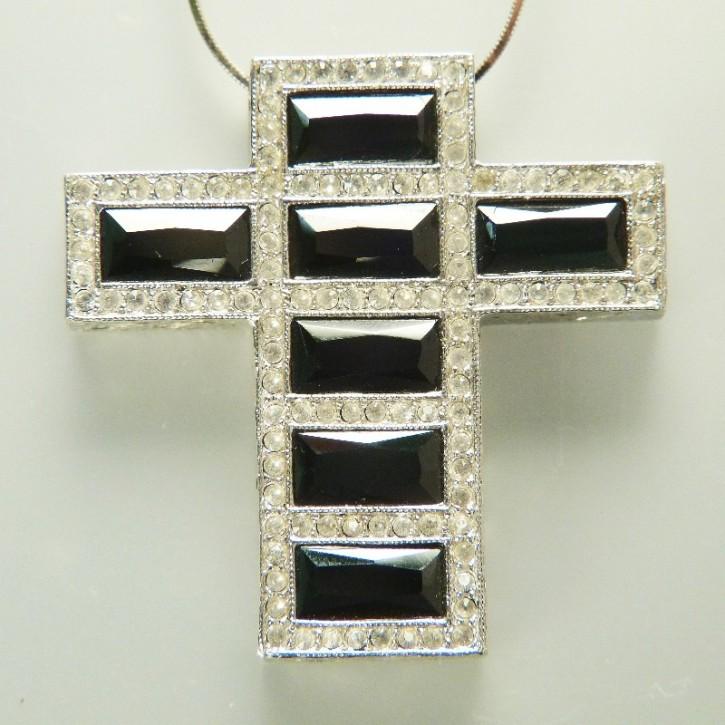 Silber-Kreuz mit Zirkonia