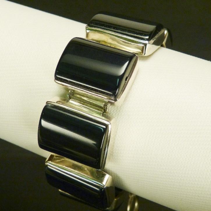 Silberarmband mit Onyx