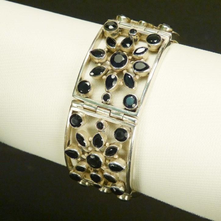 Silberarmband mit schwarzem Onyx