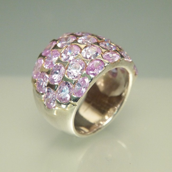Silberring mit Zirkonia light Amethyst