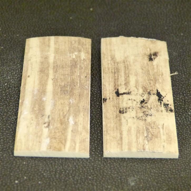 Schalenpaar ca. 68 x 27,5 x 3,2 - 7,2 mm