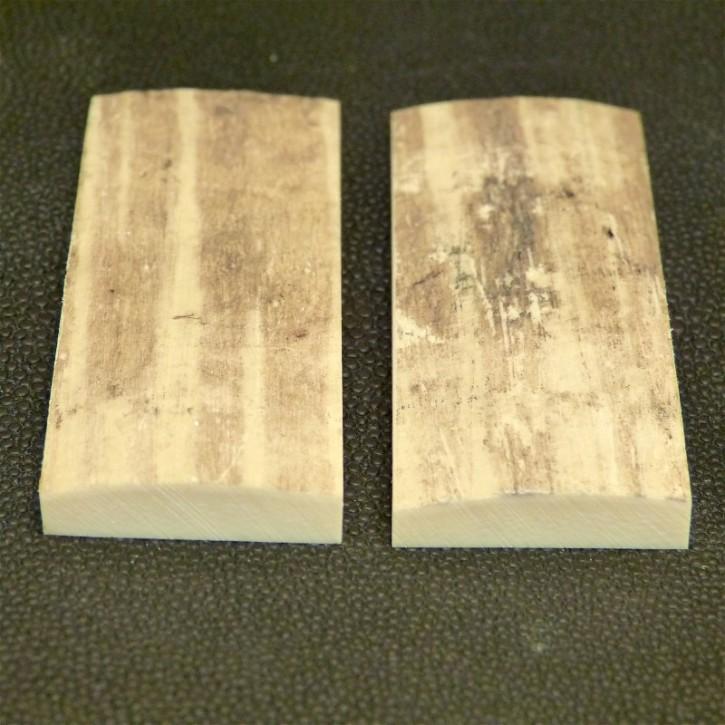 Schalenpaar ca. 69 x 27,5 x 3,3 - 6,8 mm