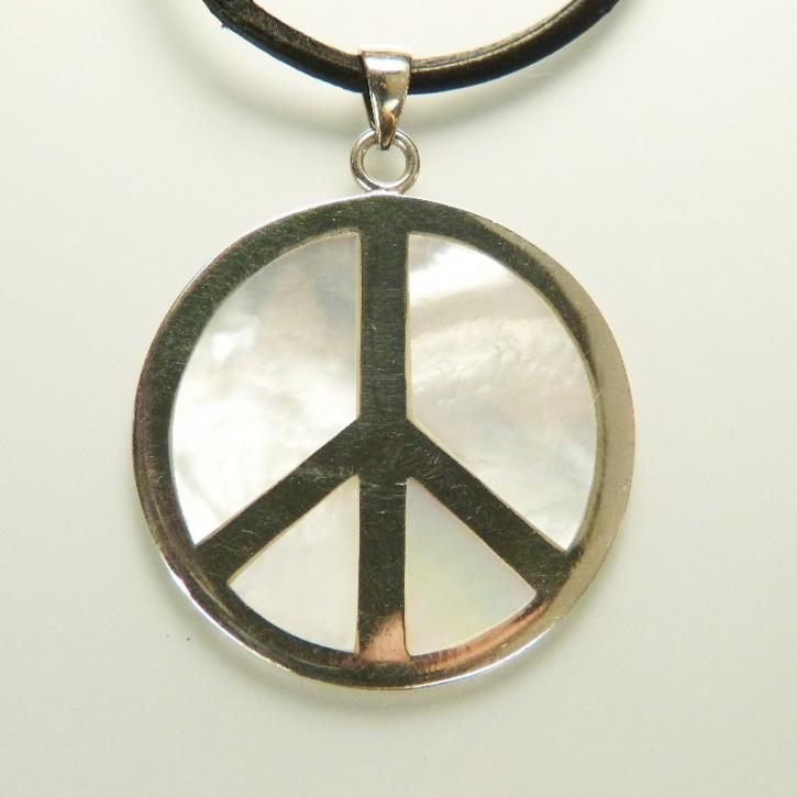 "Anhänger 925/- ""Peace"" mit Perlmutt"