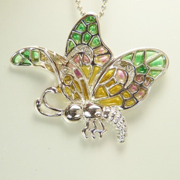 Silber-Anhänger Schmetterling