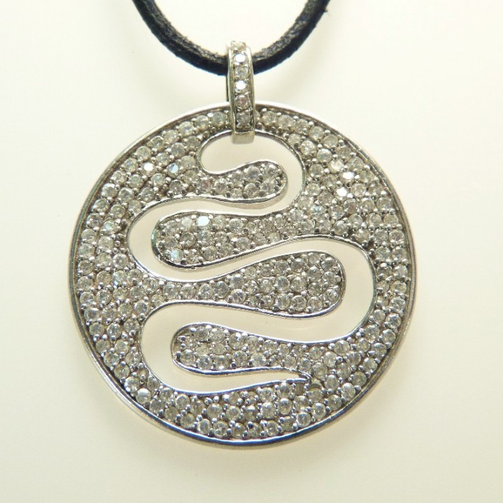 Silberanhänger mit Zirkonia