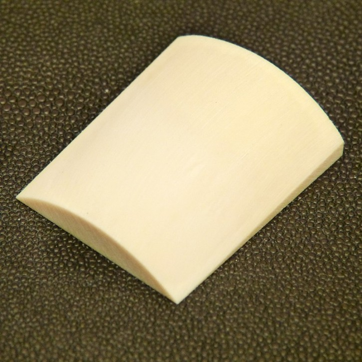 Mammut-Platte mit gewölbter Oberfläche ca. 45x38x7-12,5mm