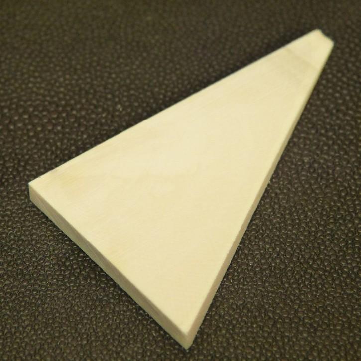Dreieck, quer geschnitten ca. 68x44x1,5 bis 4mm