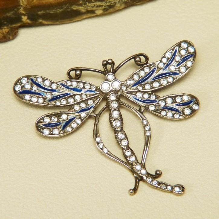 """Silberbrosche 925/- """"Libelle"""""""