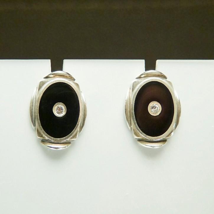 Ohrstecker Silber mit Emaille