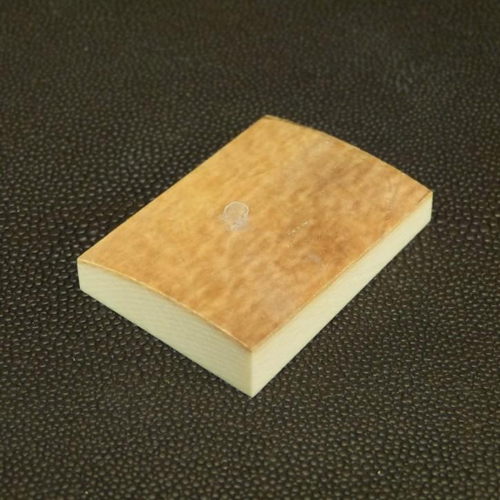 Platte mit gewölbter Oberfläche ca. 48x35x7-11,5mm