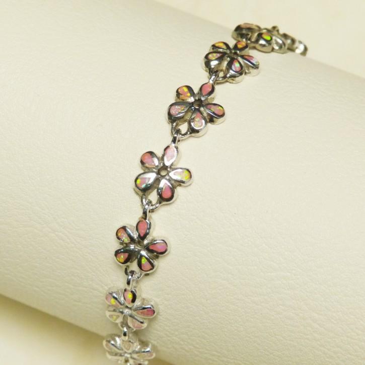 Silberarmband 925/- mit Opalsynthesen