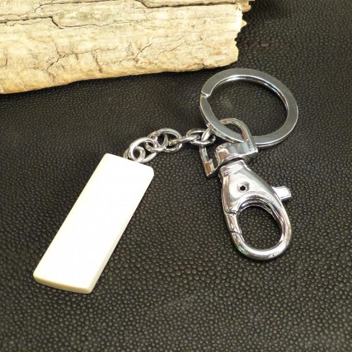 Schlüsselanhänger aus hellem Mammutelfenbein