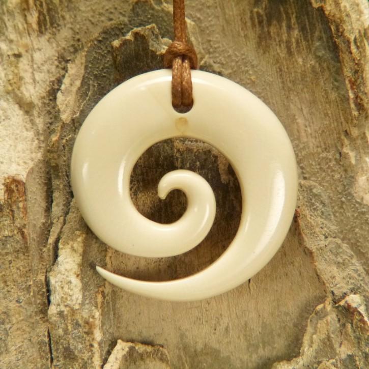 """Hei Matau """"Spirale"""" aus Mammut-Elfenbein"""