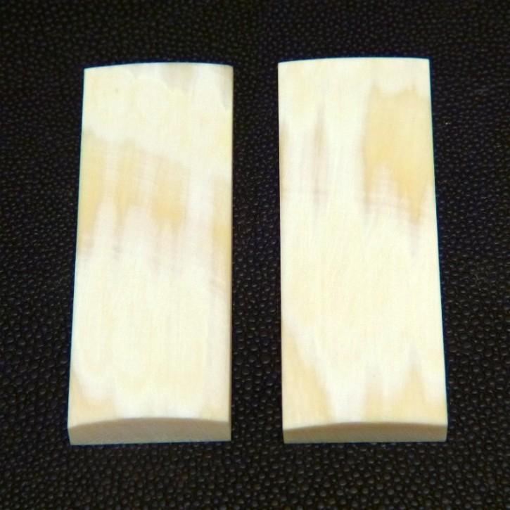 Schalenpaar ca. 69x24,5x3,3 bis 7,5mm