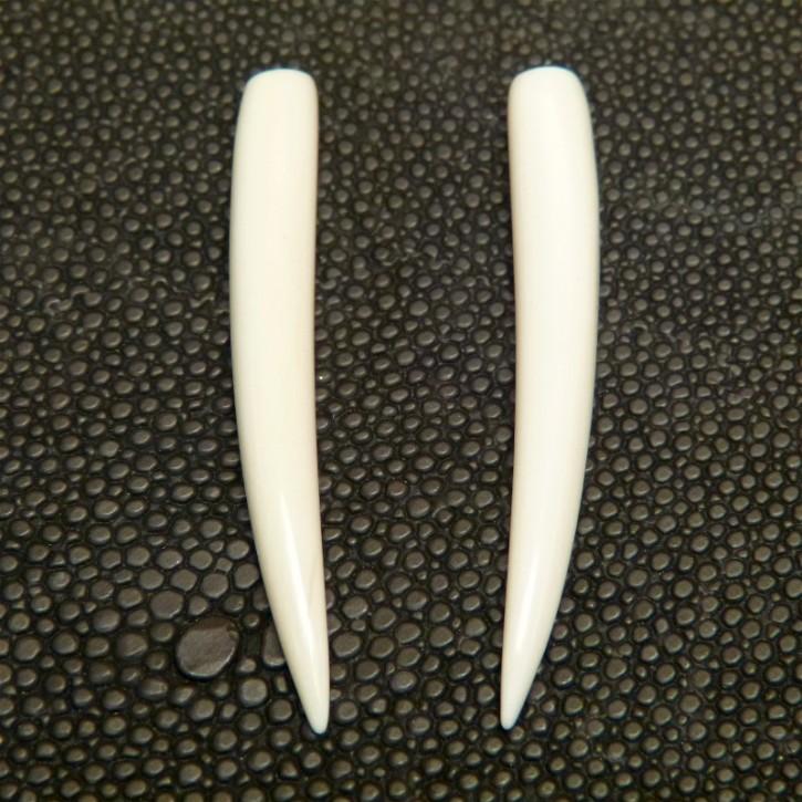 1 Paar Ersatzstoßzähne ca. 45mm lang