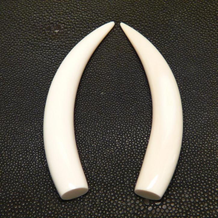 1 Paar Ersatzstoßzähne ca. 14,5 x 98mm